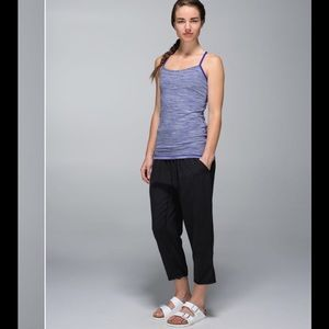 Lululemon brusied berry y back top size 4